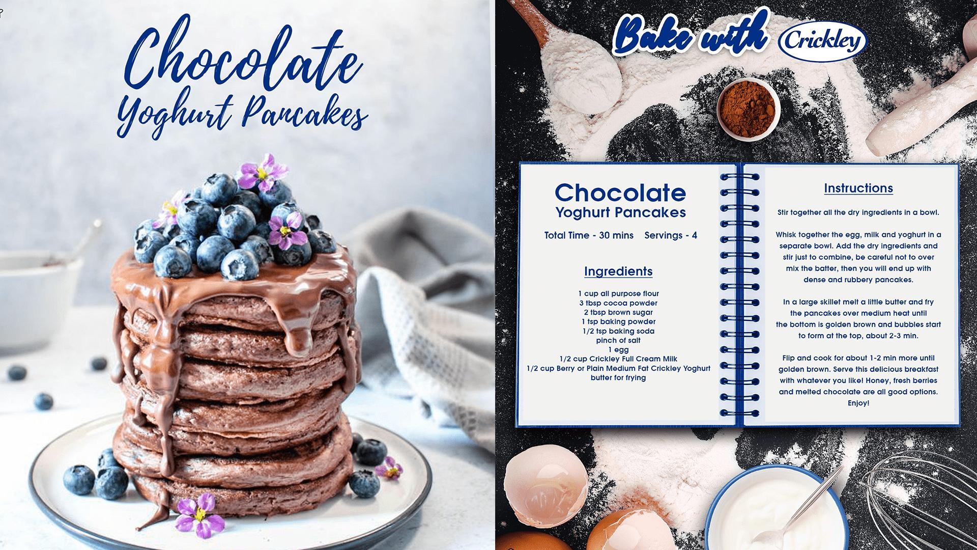 Crickley Chocolate Pancakes